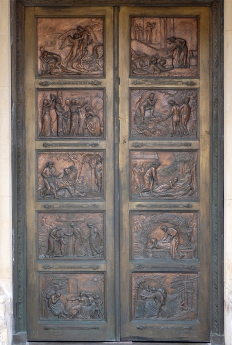 Doors of the Bunyan Meeting House by Debbie Pilgrim